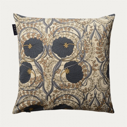 Nouveau Cushion Cover - Dark Charcoal Grey