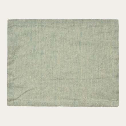 Hedvig Placemat - Bright Grey Turquoise