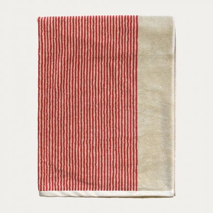 Venezia Beach Towel - Coral Red