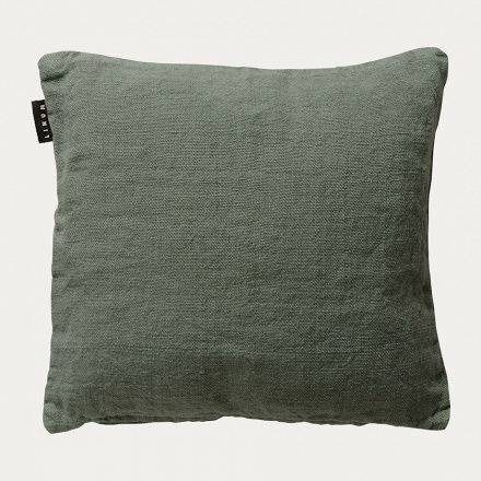 Raw cushion cover - Grey green