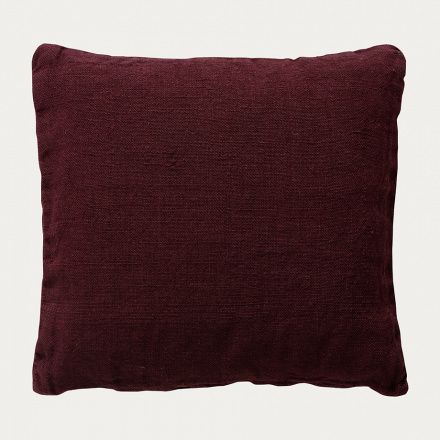 Raw Cushion cover - Dark Burgundy Red
